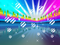 Colorful Soundwaves Backround Means Music Sparkles And Party Stock Images