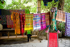 Colorful South American rugs Stock Photography