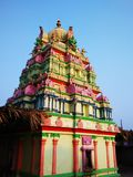 Colorful South Indian temple-I Stock Photo