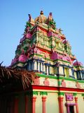 Colorful South Indian temple-VI Stock Images