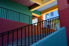 Colorful southwest staircase Royalty Free Stock Photography