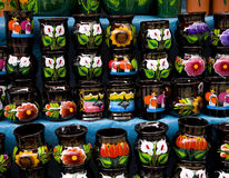 Colorful Souvenir Cups Mexico Stock Photography
