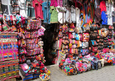 Colorful souvenir market in South America Stock Photo