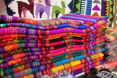 Colorful souvenir market in South America Royalty Free Stock Image