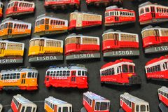 Colorful souvenirs of Lisbon city Royalty Free Stock Images