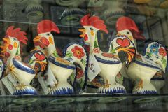 Colorful souvenirs of Lisbon city Royalty Free Stock Photo