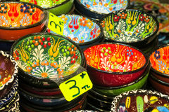 Colorful souvenirs from turkish market Royalty Free Stock Image