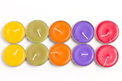 Colorful spa candles. Stock Images