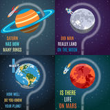 Colorful Space Flat Concepts Royalty Free Stock Photos