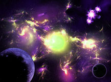 Colorful space galaxy Stock Photography
