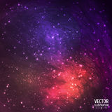 Colorful Space Galaxy Background with Light Stock Photography