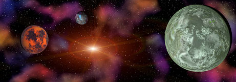 Colorful space landscape Stock Image