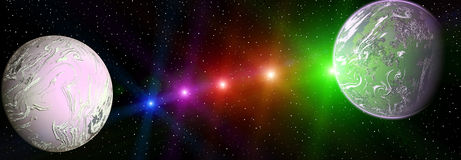 Colorful space landscape Stock Images