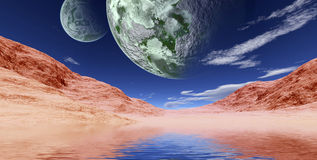 Colorful space landscape Royalty Free Stock Photography