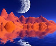 Colorful space landscape Royalty Free Stock Photo