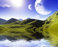 Colorful space landscape Royalty Free Stock Image
