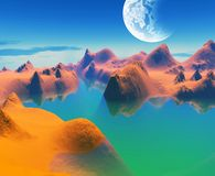 Colorful space landscape Royalty Free Stock Photos