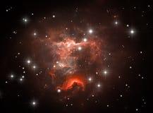 Colorful space nebula Royalty Free Stock Image