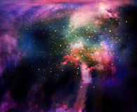 Colorful space nebula in outer space Royalty Free Stock Photo