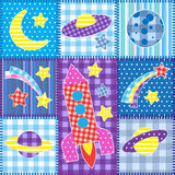 Colorful Space Patchwork Royalty Free Stock Images