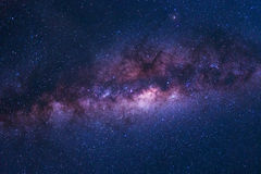 Colorful space shot of milky way galaxy with stars on a night sky. Background Stock Image
