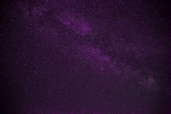 Colorful space shot showing the universe milky way galaxy with stars Royalty Free Stock Photos