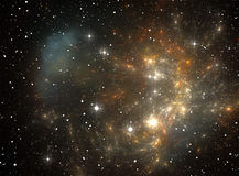 Colorful space star nebula Royalty Free Stock Photos