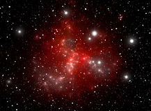 Colorful space star nebula Stock Image