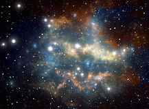 Colorful space star nebula Royalty Free Stock Image