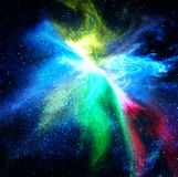 Colorful space star nebula. Background Royalty Free Stock Photos