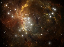 Colorful space star nebula Stock Photos