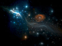 Colorful space star nebula. Illustration Stock Image