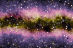 Colorful space  star nebula Royalty Free Stock Photography