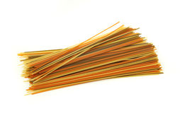 Colorful spaghetti Stock Images