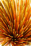 Colorful spaghetti. Composition of yellow, red and green spaghetti royalty free stock photography