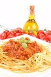 Colorful spaghetti bolognese Stock Image