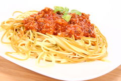 Colorful Spaghetti Bolognese Royalty Free Stock Images