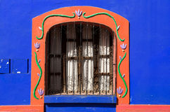 Colorful spanish buiding wall Royalty Free Stock Image