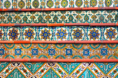 Colorful Spanish tiles decoration on stairway Stock Image