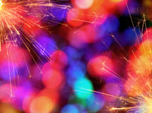 Colorful Sparkler Background Stock Image