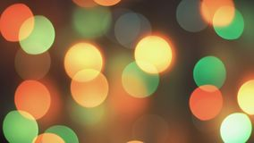 Colorful sparkling bokeh and flashing lights