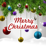 Colorful and sparkling Christmas decorations Royalty Free Stock Photo