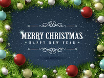 Colorful and sparkling Christmas decorations Stock Images
