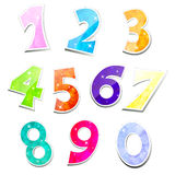 Colorful sparkling numbers Royalty Free Stock Photos