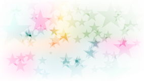 Colorful sparkling stars video animation