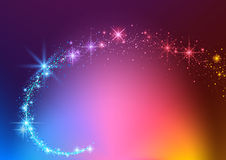Colorful Sparkling Stream Effect Stock Image