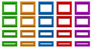 Colorful spatial 3d squares with 4 angles and 5 colors. Royalty free vector illustration Royalty Free Stock Photography