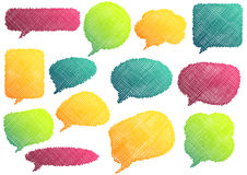Colorful Speach Bubbles Stock Images
