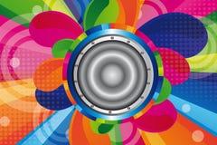 Colorful speaker Stock Photo