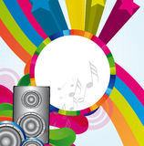 Colorful speakers Royalty Free Stock Image